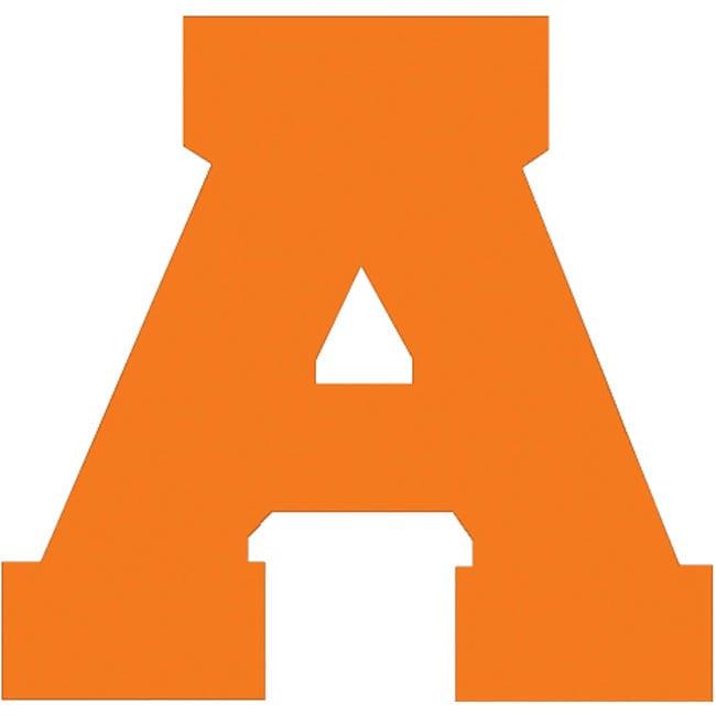 Dritz Orange 1.5-inch Uppercase Athletic Letters - Complete Alphabet