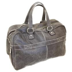 The Jones Collection Distressed Leather Duffel Bag - Thumbnail 1