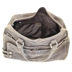 The Jones Collection Distressed Leather Duffel Bag - Thumbnail 2