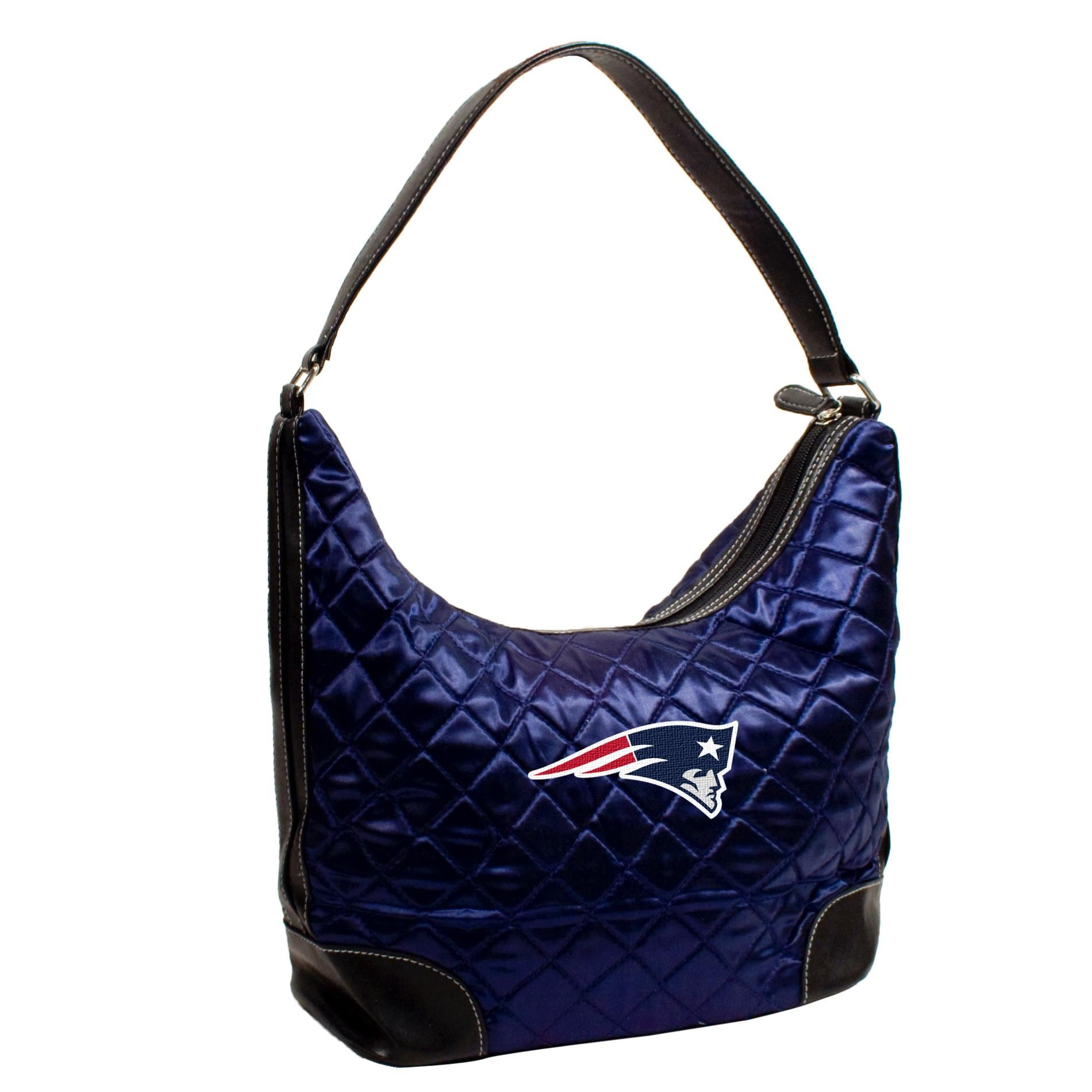 New England Patriots Quilted Hobo Handbag