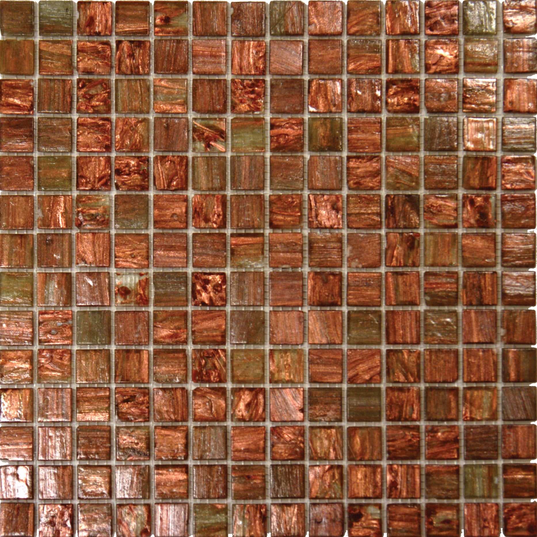 Light Brown Iridescent Glass Mosaic Tile (Case of 20)