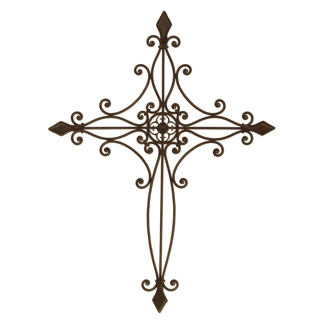 Shop Wrought Iron Cross Wall Decor Free Shipping On Orders Over