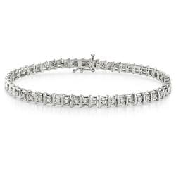 Sterling Silver 1ct TDW Diamond Tennis Bracelet - Thumbnail 0