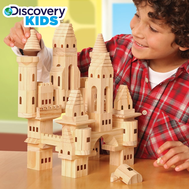 Function One Of The Five Building Blocks Of Kitchen: Discovery Kids Wood Castle Blocks Set