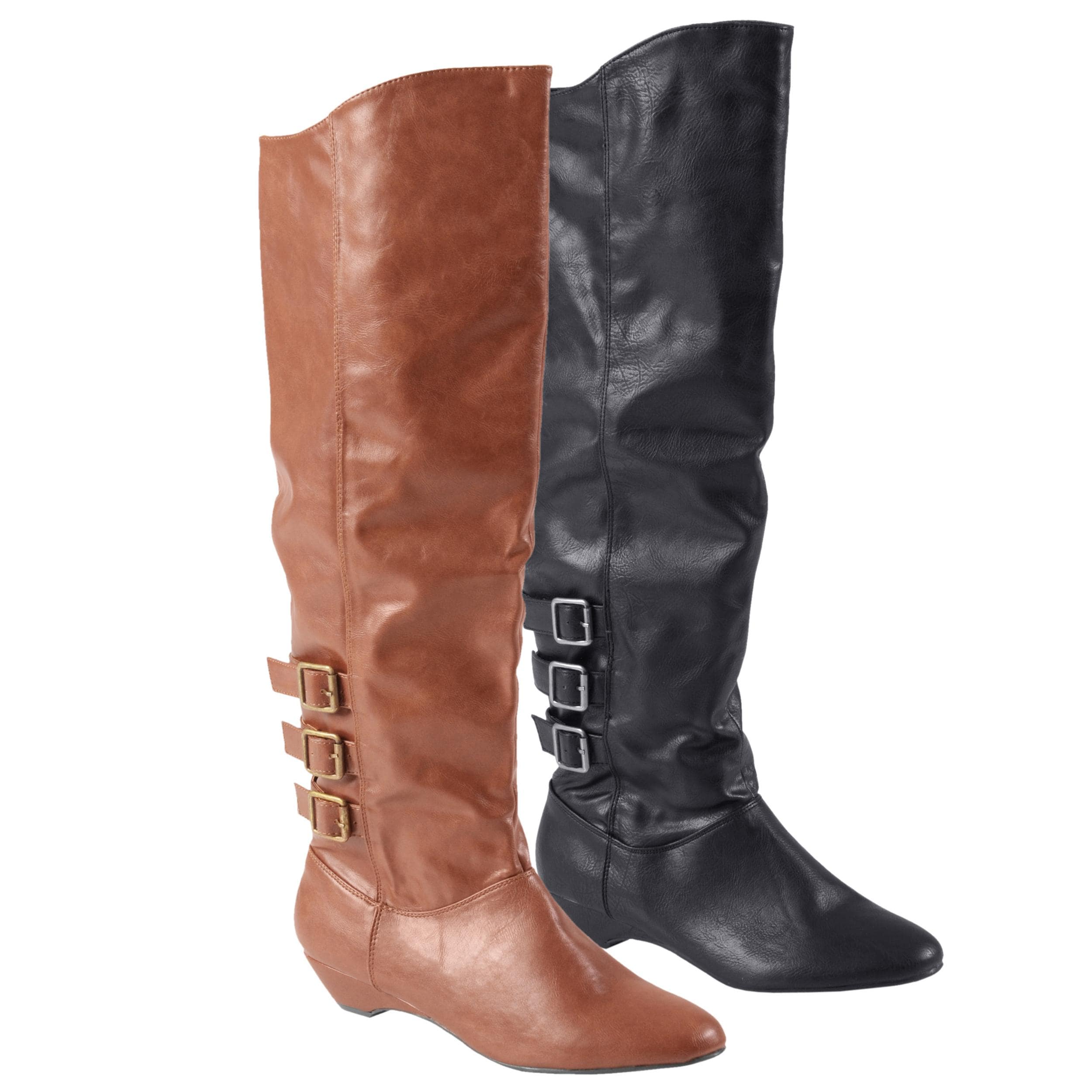 f4c3018d513 Shop Madden Girl by Steve Madden Women s  Zextor  Tall Buckle Detail Boots  - Free Shipping Today - Overstock - 6209376