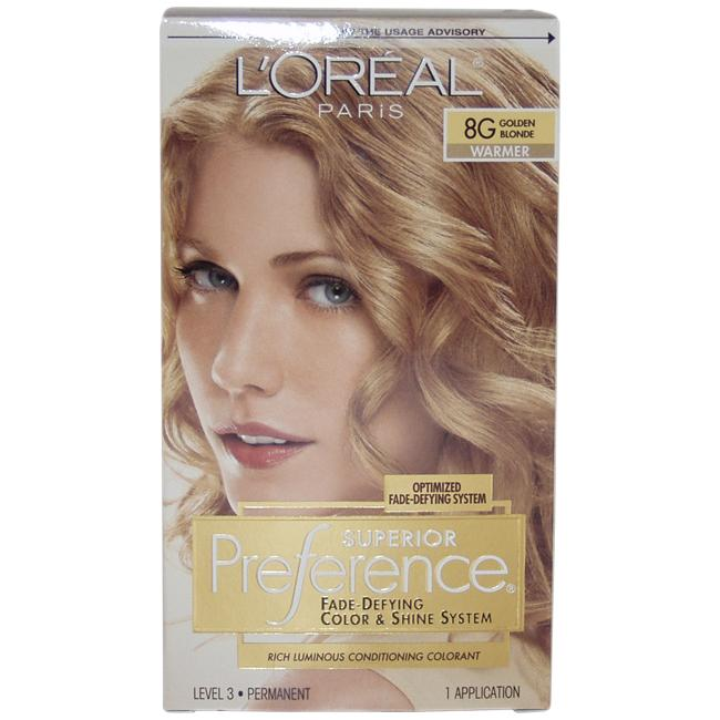 L Oreal Superior Preference Golden Blonde 8g Hair Color
