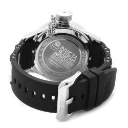 Invicta Men's 'Russian Diver' Blue Dial Black Polyurethane Watch - Thumbnail 1