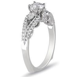 Miadora 18k White Gold 3/4ct TDW Certified Diamond Engagement Ring