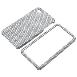 Silver Diamond Snap-on Case for Apple iPhone 4 - Thumbnail 1
