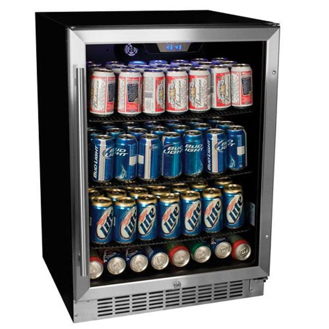 Edgestar Stainless Steel 148 Can Beverage Cooler