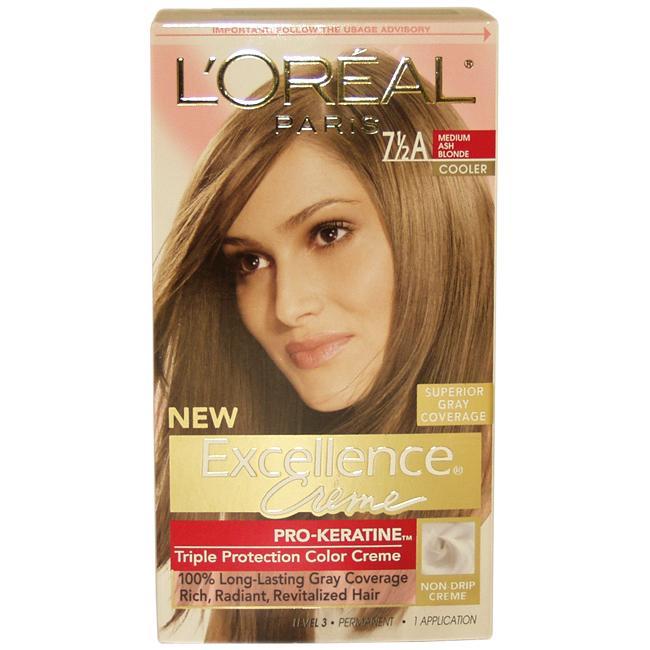 Loreal Excellence Creme Pro Keratine 75a Medium Ash Blonde Hair