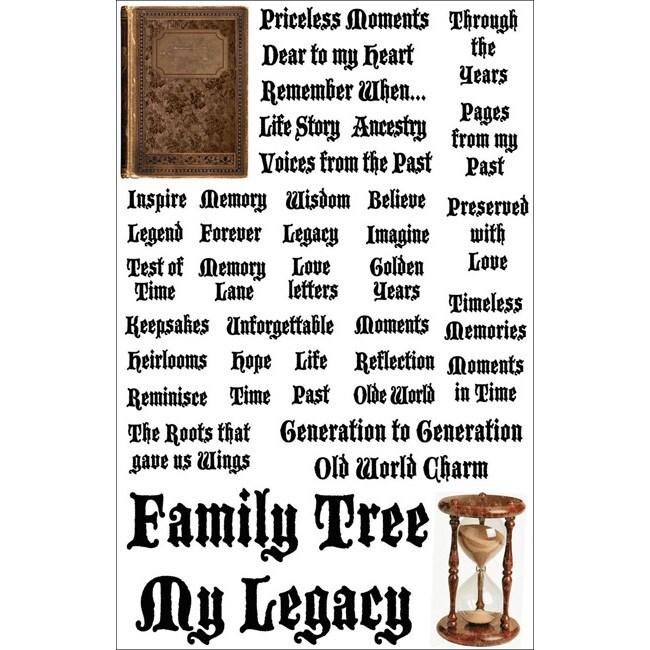 Heritage Cardstock Stickers Words