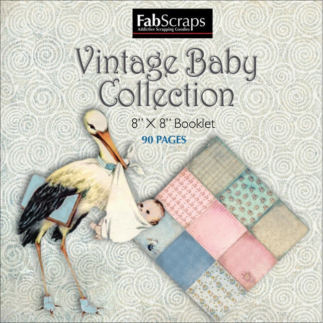 Fabscraps 'Vintage Baby Collection' Mini Paper Booklet
