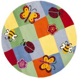 Safavieh Handmade Children's Garden Friends N. Z. Wool Rug (6' Round)