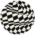 Safavieh Handmade Soho Modern Abstract Black Wool Rug - 6' x 6' Round