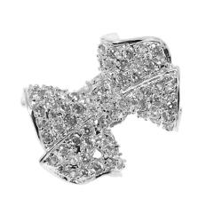 Sterling Silver Clear Cubic Zirconia Bow Ring