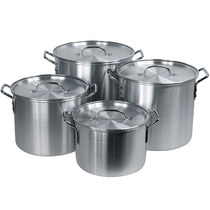Hoffritz 8-piece Covered Nesting Aluminum Stockpot Set