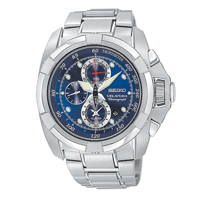 Seiko Men's Velatura Alarm Chronograph Watch