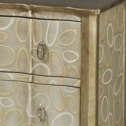 Hand-painted Silver and Gold Finish Accent Chest