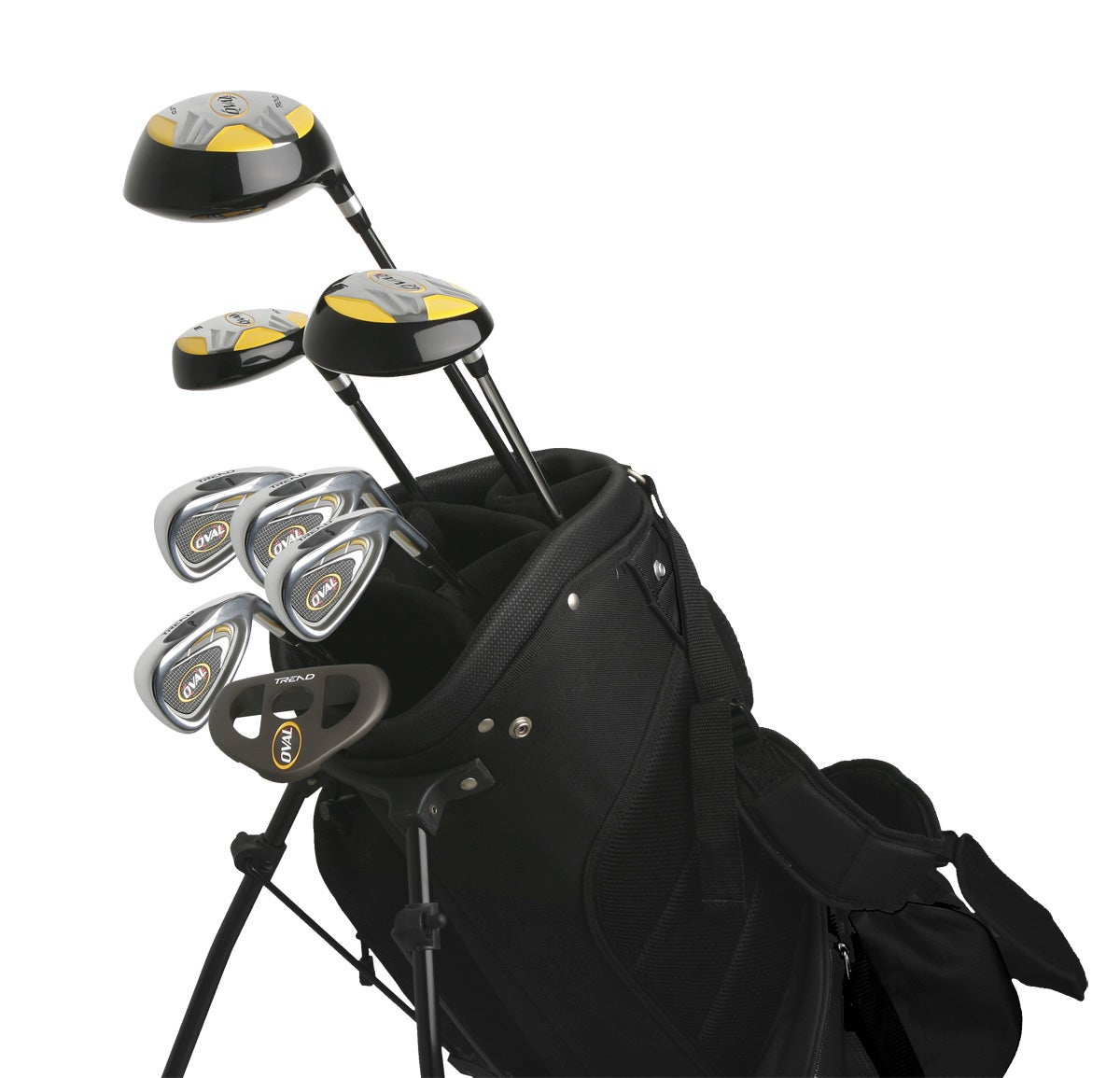 Oval Men's 10-piece Golf Club Starter Set