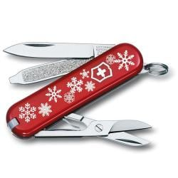 Victorinox Swiss Army Classic Snowflake Red Swiss Army Knife - Thumbnail 0
