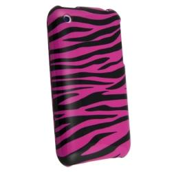 Pink Zebra Case/ Screen Protector for Apple iPhone 3GS - Thumbnail 1