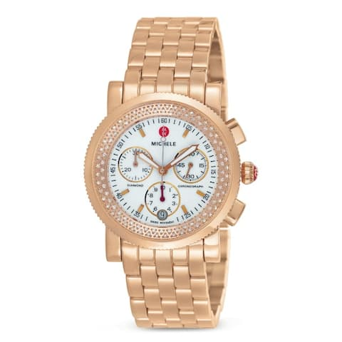 Michele Women's Sport Sail Diamond Rose Goldtone Watch