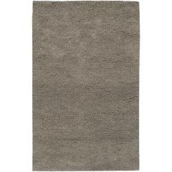 Hand-woven Mesquite Wool Plush Shag Area Rug (5' x 8') - Thumbnail 0
