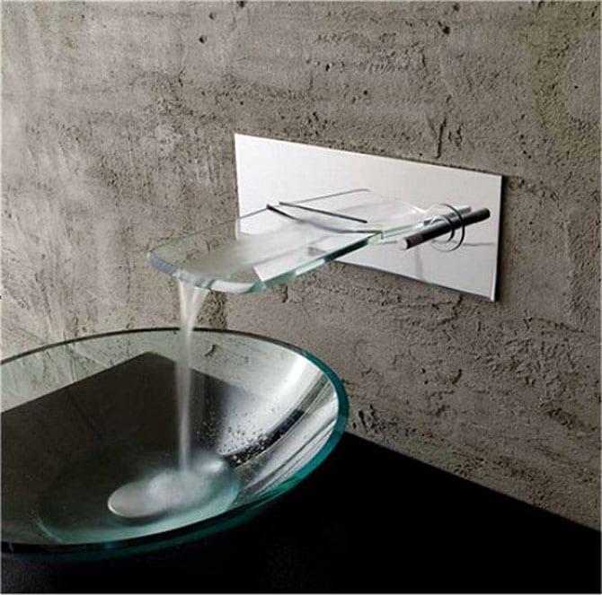 Kokols Bath Glass Wall Mounted Waterfall Chrome Faucet Free Shipping Today