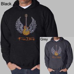 Los Angeles Pop Art Men's Freebird Hooded Sweatshirt