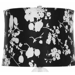Safavieh Lighting 30-inch Glass Sphere Black/ White Shade Table Lamps (Set of 2) - Thumbnail 1