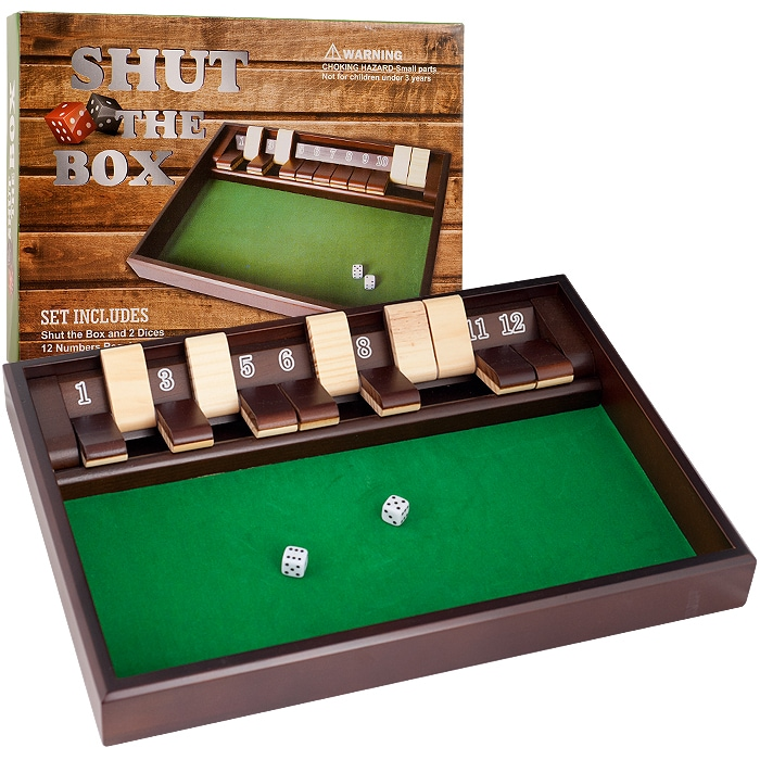 Trademark Poker Shut the Box 12 Numbers Zero Out Dice Game (Set of 2)