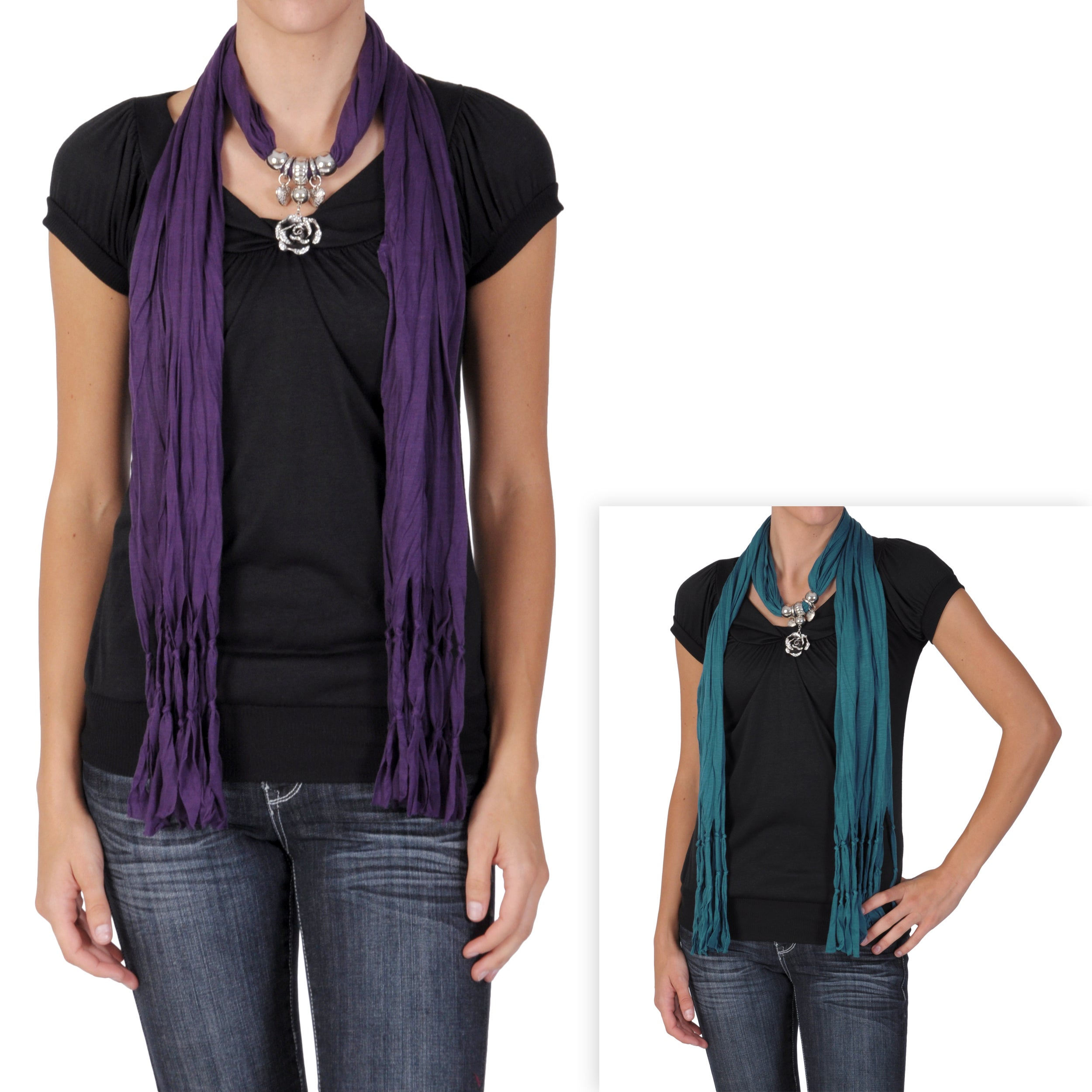 Journee Collection Women's Rose Charm Fashion Scarf