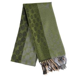 Adi Designs Women's Floral and Bubble Print Fringed Scarf - Thumbnail 2