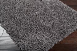 Expertly Woven Kirkland Grey Super Soft Shag Rug (8' x 10') - Thumbnail 1
