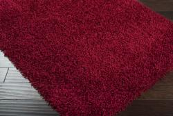 Expertly Woven Sutton Red Super Soft Shag Rug (8' x 10') - Thumbnail 1