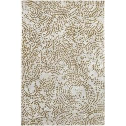 Hand-knotted Rye Abstract Design Wool Rug (9' x 13')