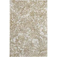 Hand-knotted Rye Abstract Design Wool Area Rug - 9' x 13'