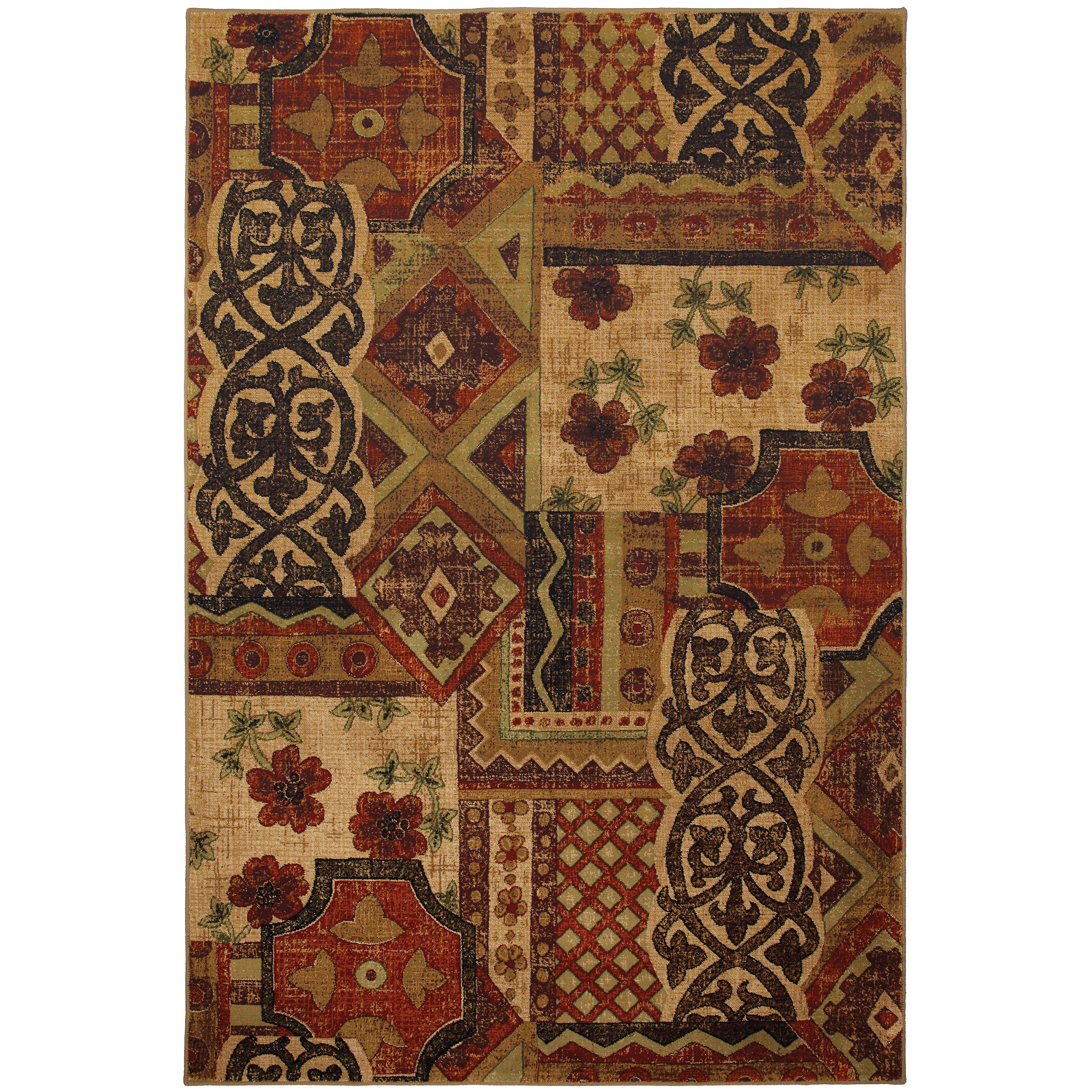 Garden District Red Rug (5'3 x 7'10) - Thumbnail 0