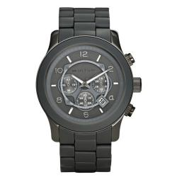 Michael Kors Men's Gunmetal Oversize Runway Watch