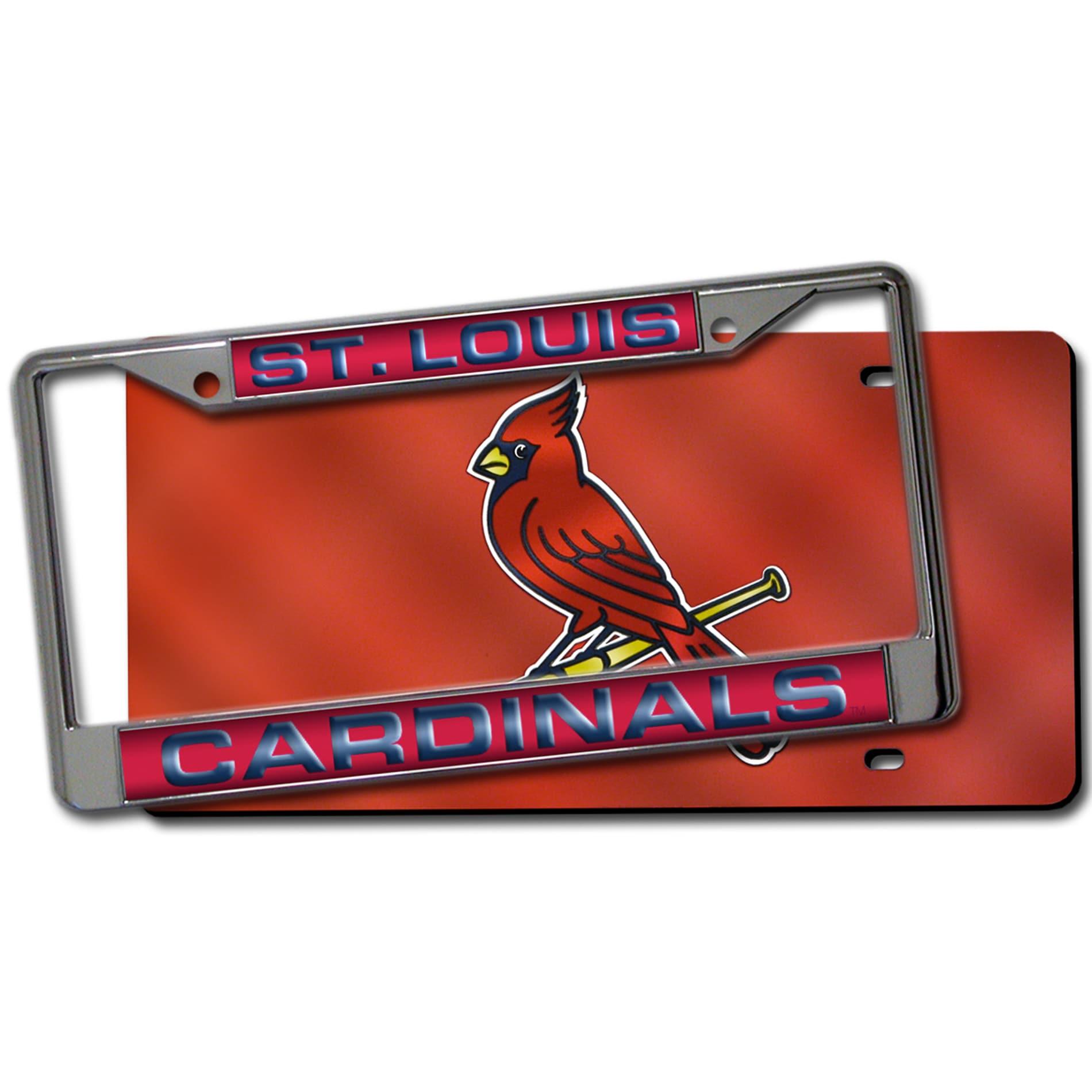 St. Louis Cardinals Laser Cut License Plate Pack