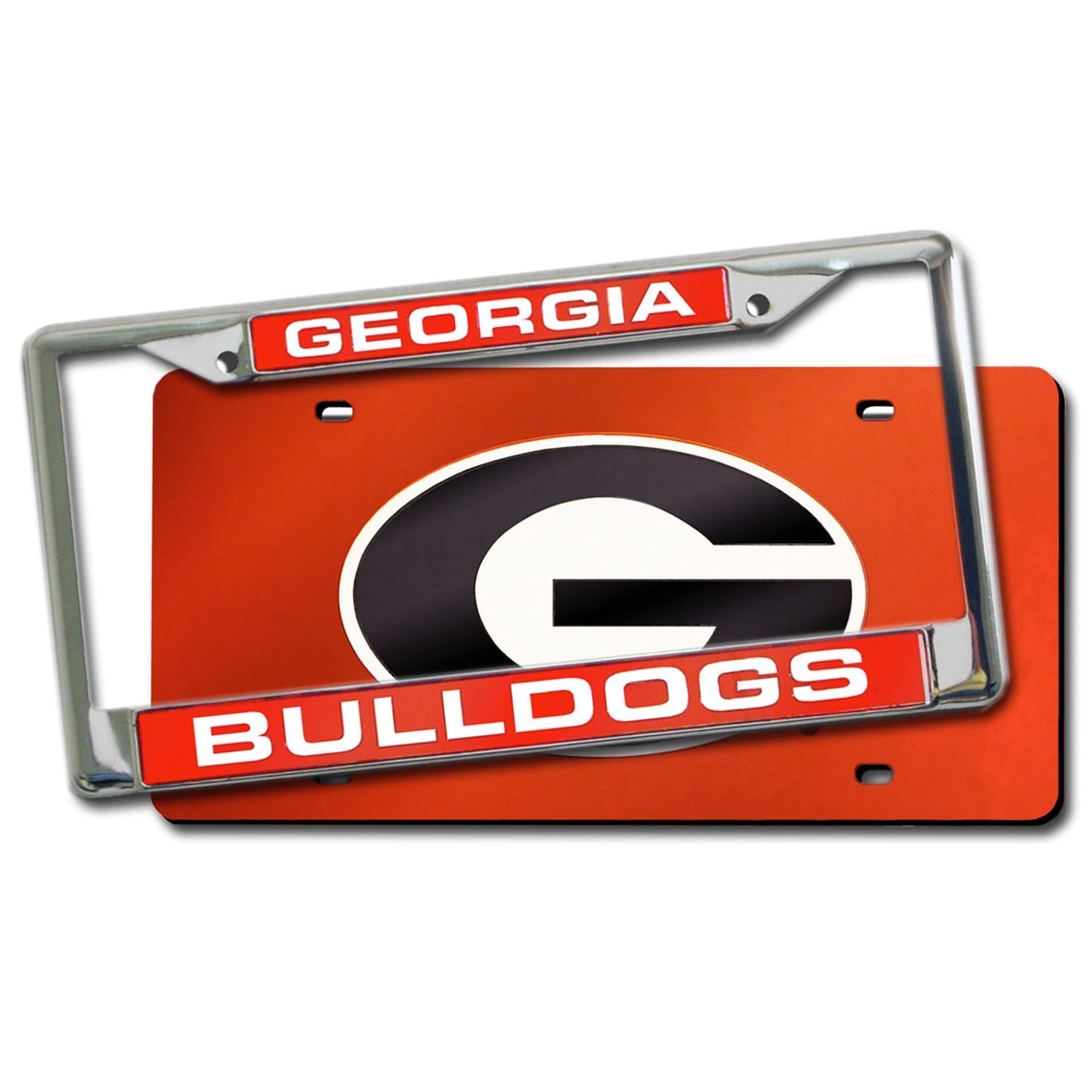 Georgia Bulldogs Laser Cut License Plate Pack