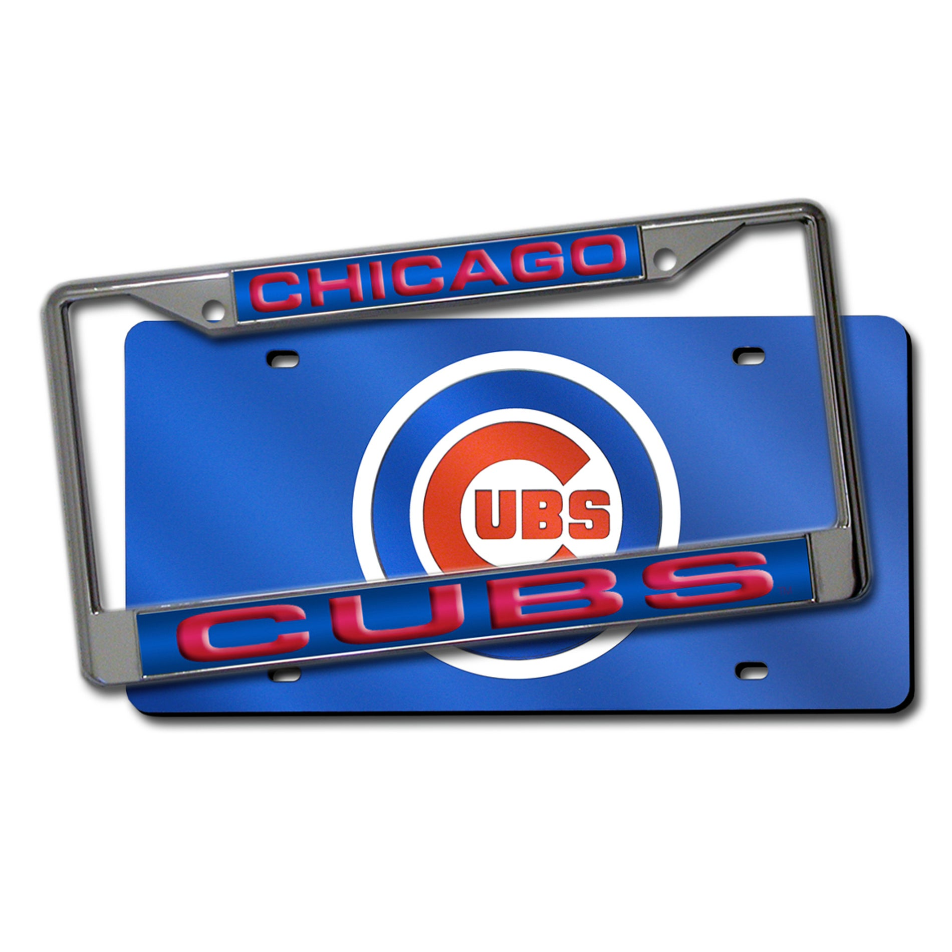 Chicago Cubs Laser Cut License Plate Pack