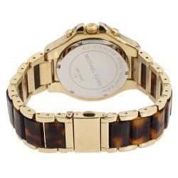 Michael Kors Women's Chronograph Tortoise Brown Dial Watch