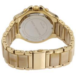 Michael Kors Women's Goldtone Horn Resin Chronograph Watch