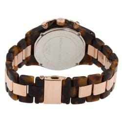 Michael Kors Women's Crystal Detail Rose and Tortoise Watch