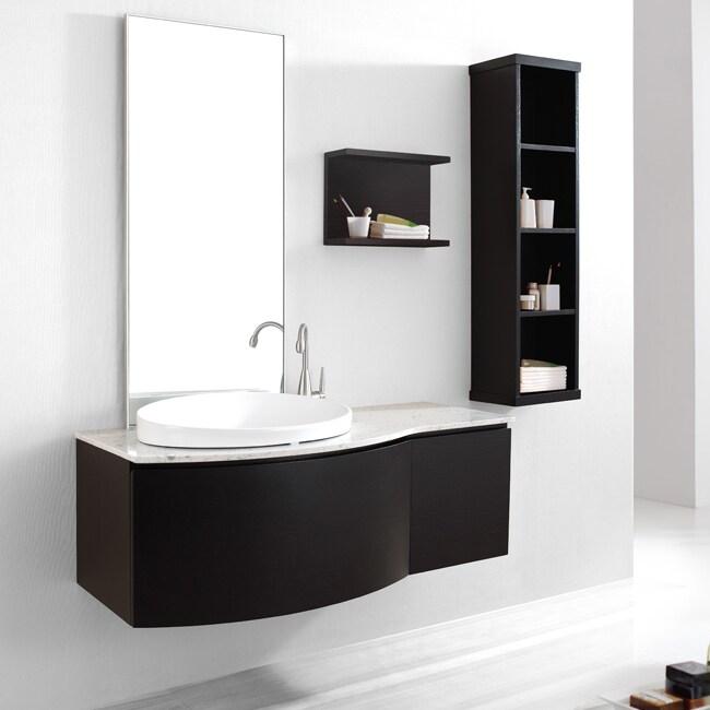 Agatha 48 Inch Single Sink Bathroom Vanity Set In Espresso