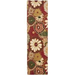 Safavieh Handmade Jardine Summer Rust Wool Rug (2'3 x 8')