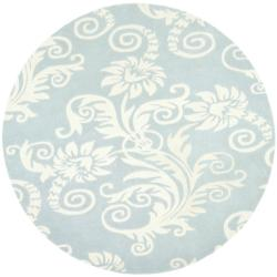 Safavieh Handmade New Zealand Wool Paris Blue Rug (6' Round)