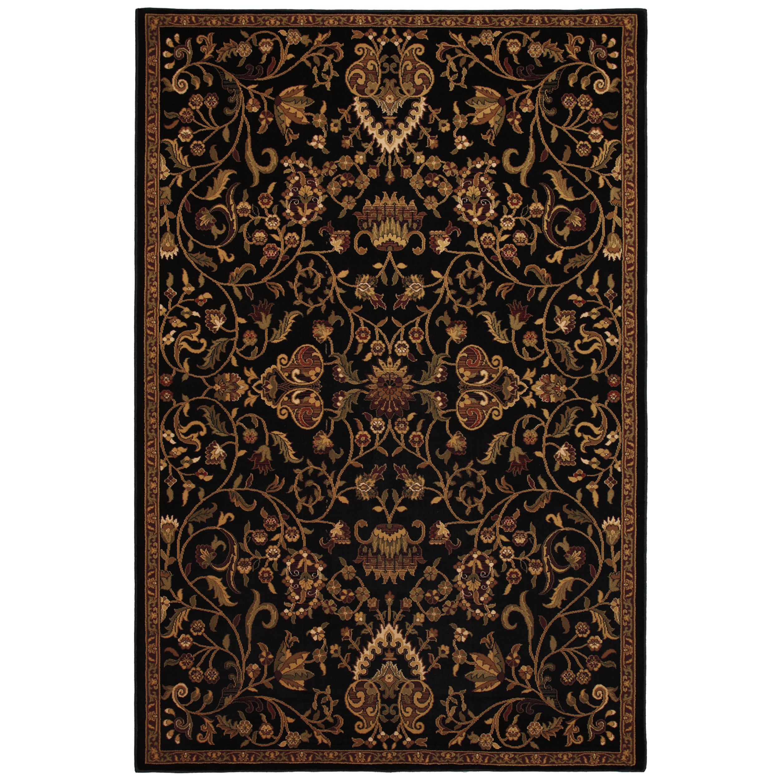 Baroque Black Rug (8' x 11')